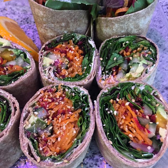 Super Veggie wraps, the breakfast of champions. Thanks @mysoycafe and Alice for starting my day out right including hugs and smiles. #veganbreakfast @lesdamesphl
