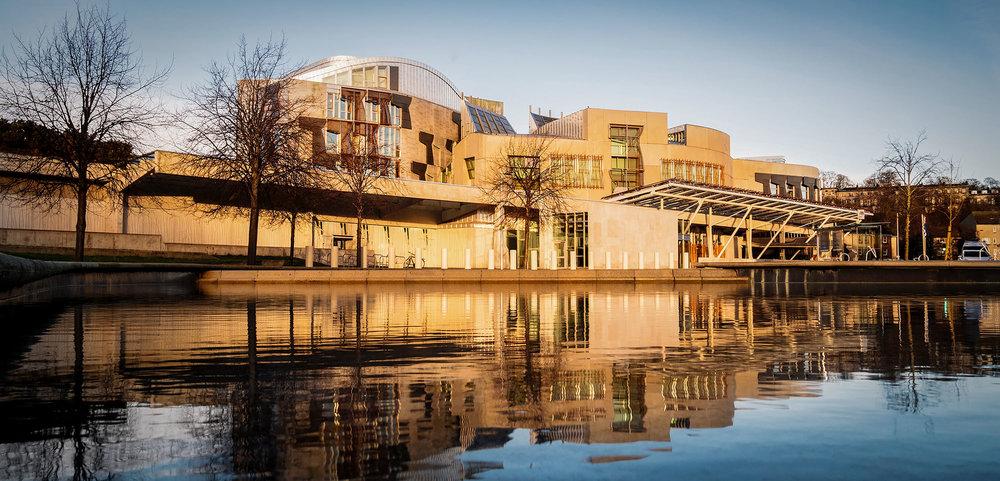 The Scottish Parliament in Edinburgh. ©Ulmus Media