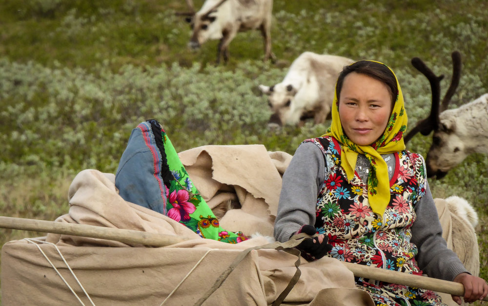 Svetlana is one of the few who have returned to the tundra. She has not completed lower secondary school, and is now the mother of two small children. JONAA©Zoia Vylka Ravna