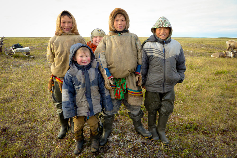 These boys help their parents fetch water and firewood, and build the mya. Then they play football and throw lassoes. In a few years they must choose whether to stay on the tundra or find another way of life. JONAA©Zoia Vylka Ravna