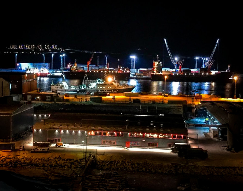 The newly expanded port of Nuuk, Greenland with greatly improved port facilities and a new terminal, is a recent example of infrastructure investments catering to the needs of business growth in the Arctic.  JONAA©Kuno Fencker