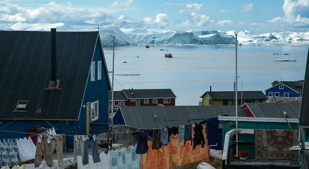 Ilulissat, North-West Greenland. Home to 5000 people. JONAA©Kristjan Fridriksson