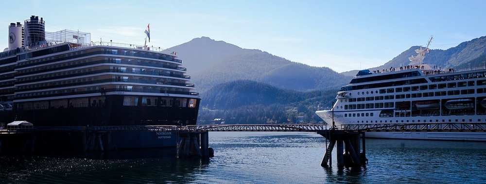 An estimated 1.1 million cruise ship passengers will disembark in Juneau this year to see the Mendenhall Glacier and other local attractions.  JONAA©Mia Bennett