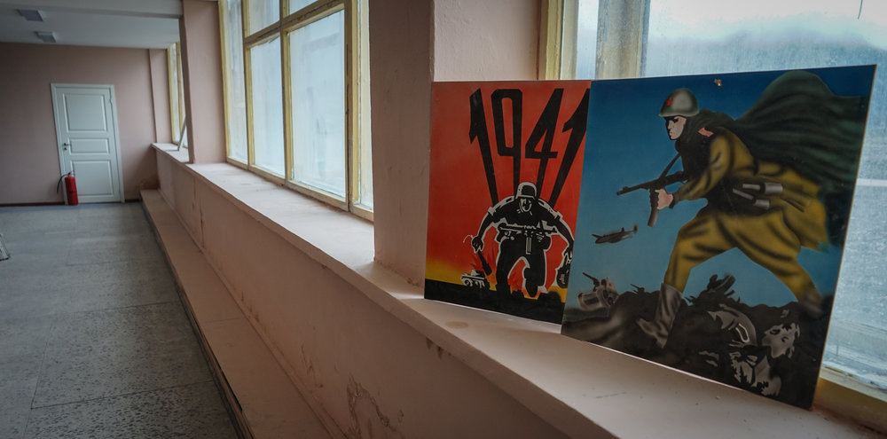 Heros of the Great Patriotic war (World War II) and other Soviet nostalgic reminders in Pyramiden.  All pictures, JONAA©Thomas Nilsen