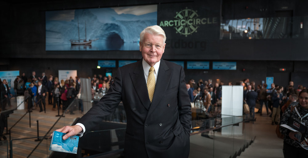 Chairman and founder of The Arctic Circle, Ólafur Ragnar Grímsson, former President of Iceland, at the Assembly in Reykjavik in October 2018.  JONAA©Ragnar Axelsson