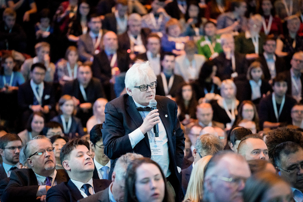 Anyone in the audience can stand up and pose a question to the panel or speaker. JONAA©Óli Haukur Myrdal