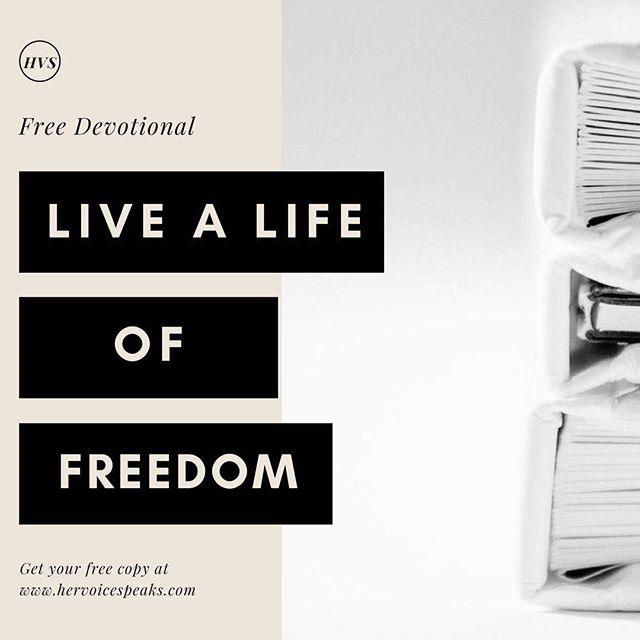 The biggest obstacle to living free is wrapped up in our mindsets. How we view ourselves in relation to God, plays a huge role in how we walk out His truth for our lives. God desires that we live freely expressing the abundant life in our everyday living! ⠀ ⠀ Her Voice Speaks is offering a FREE 7-Day Devotional to give us the kick we need to get our mind right.⠀ ⠀ 💥CLICK ON THE LINK IN OUR BIO💥⠀ ⠀ Get your FREE copy today!