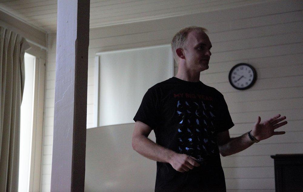 Presenter Noah Strycker