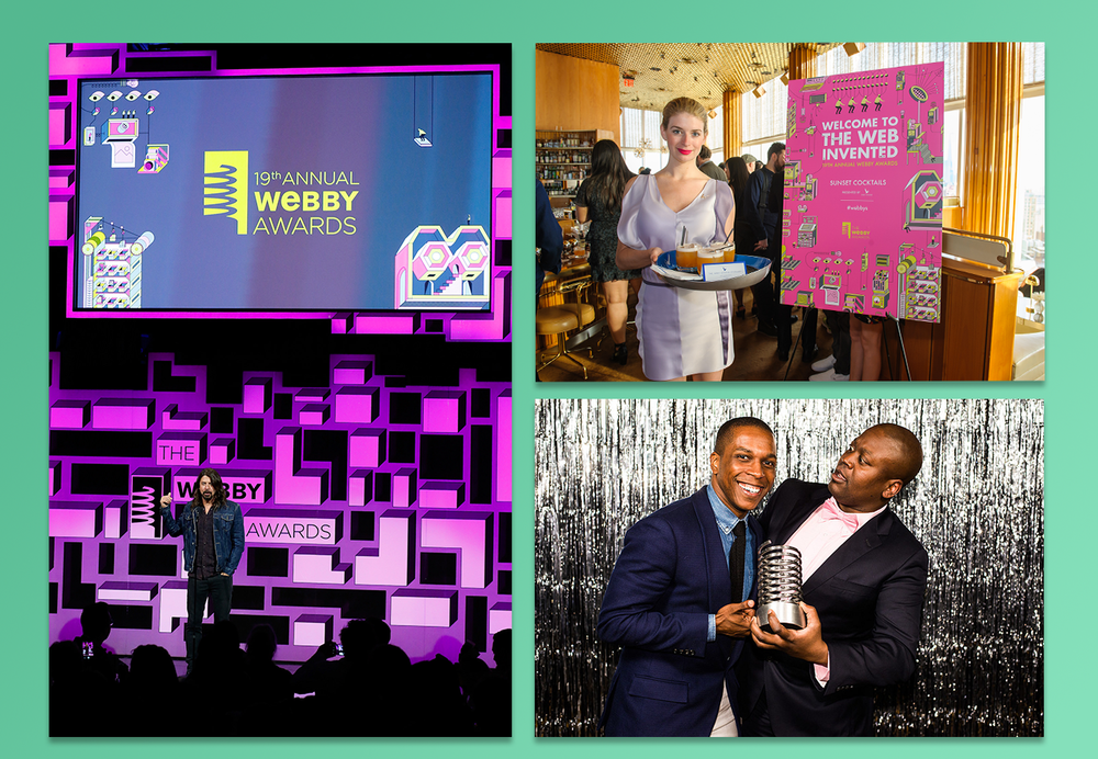 The Webbys works with  David Korins  to create the stage based off of the theme and design for the year. You can see more show photos on the  Webby Awards Flickr .
