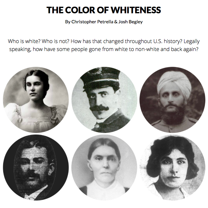 Who is white? -