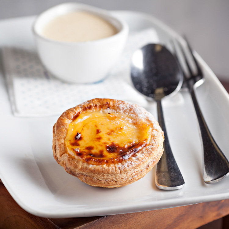 Pasteis de Nata (Custard Tartlet)   €2.80 (Eat in)—€2.25 (Takeaway)