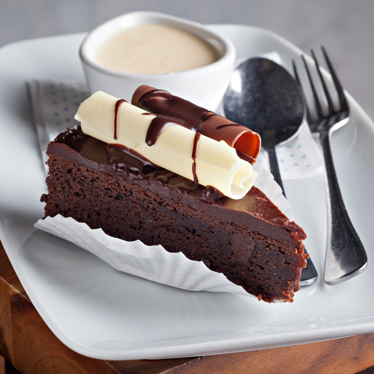 Chocolate Fudge Cake   €4.00 (Eat in)—€3.50 (Takeaway)