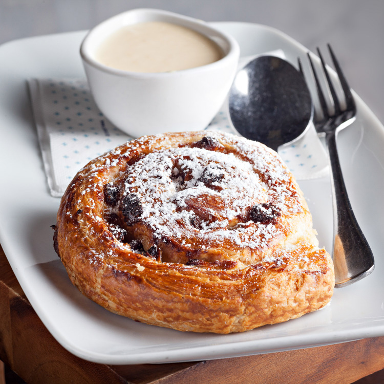 Danish Custard and Raisin Swirl   €2.50 (Eat in)—€2.25 (Takeaway)