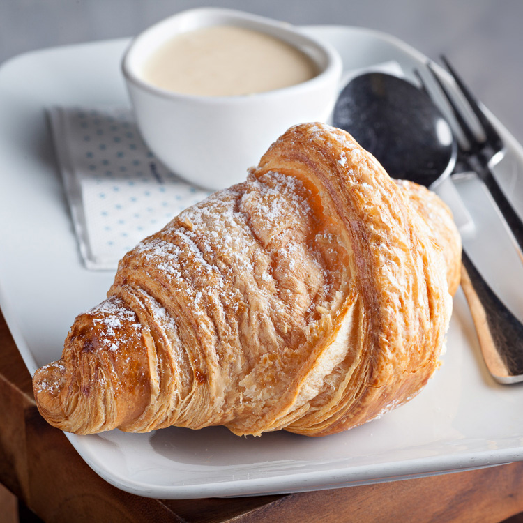 Croissant   €2.50 (Eat in)—€2.00 (Takeaway)
