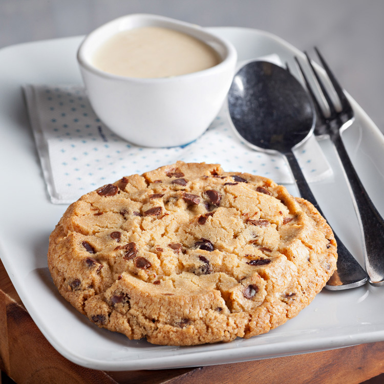 Chocolate Chip Cookie   €2.80 (Eat in)—€2.25 (Takeaway)