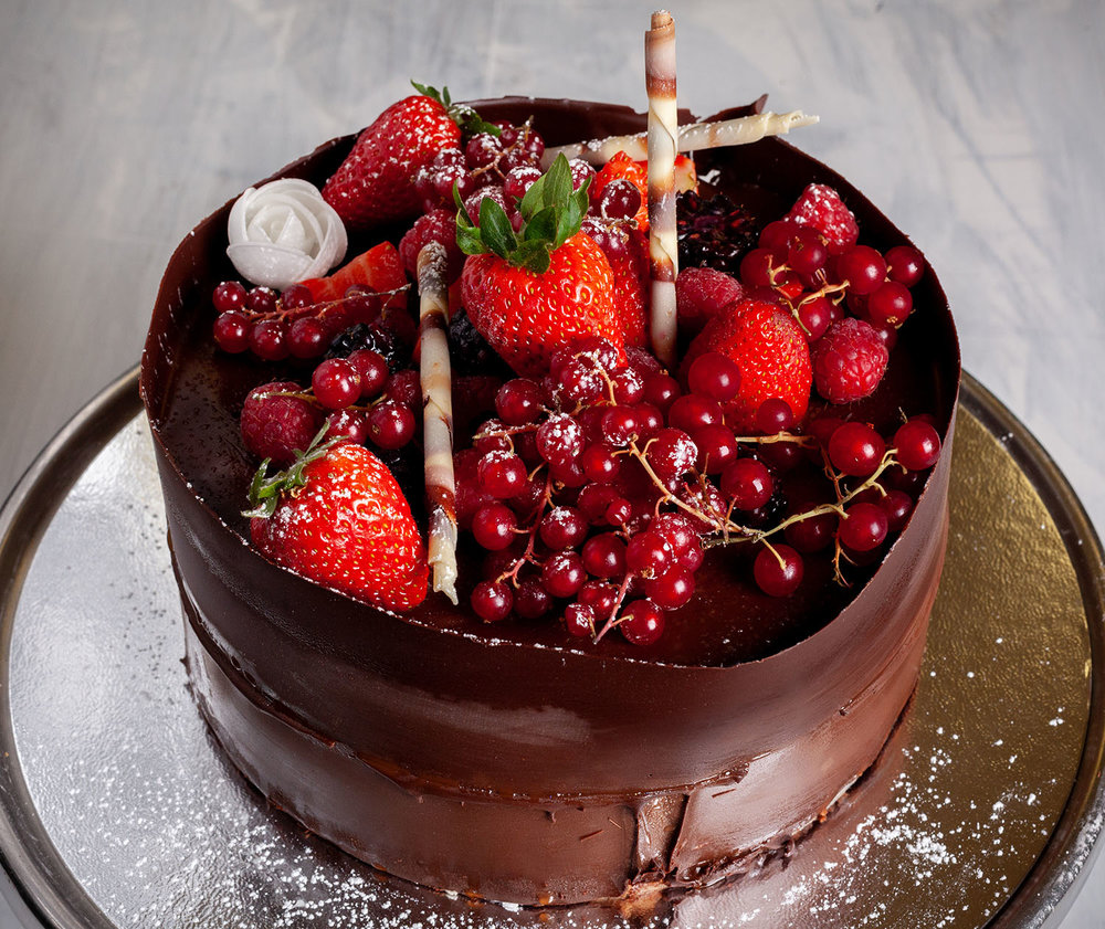 Summer Fruit Chocolate Mousse Cake