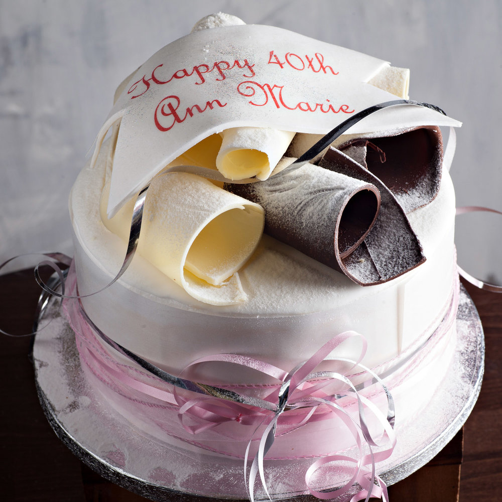 BiteSize Signature Chocolate Curl Cake