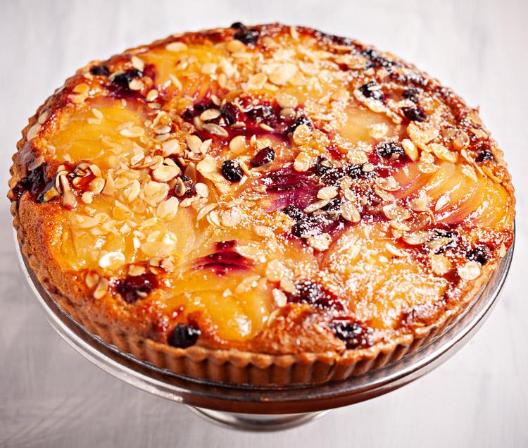 Pear, Raspberry & Almond Tart