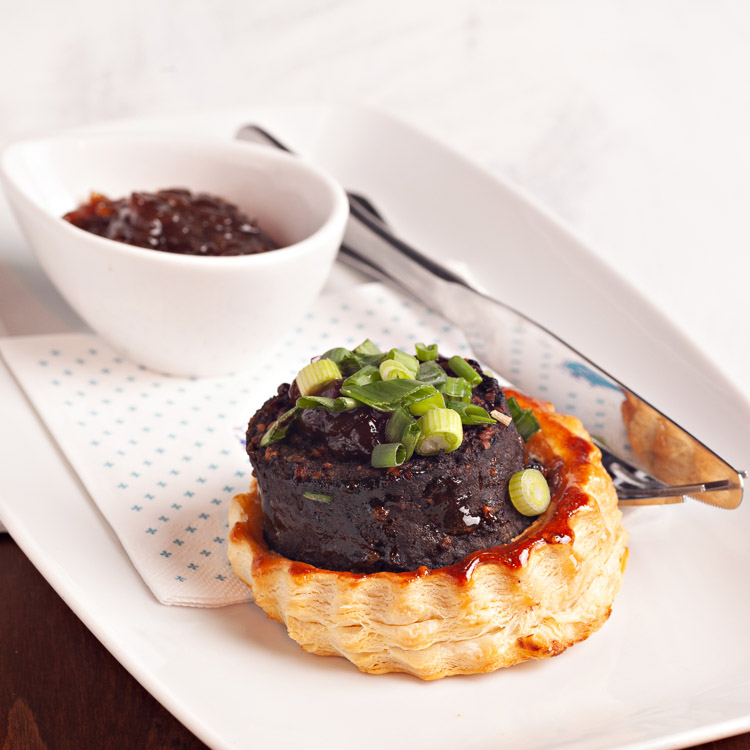Black Pudding Pastry with Marmalade