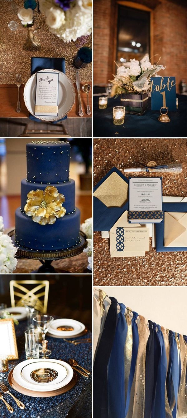 Navy and Gold (a personal favorite)