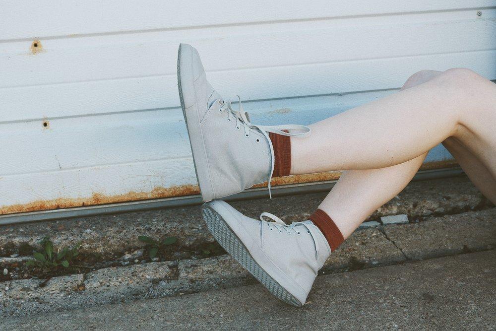 "Shoes// BANGS High Top ""London Fog""  Photos by Alex Gentz"