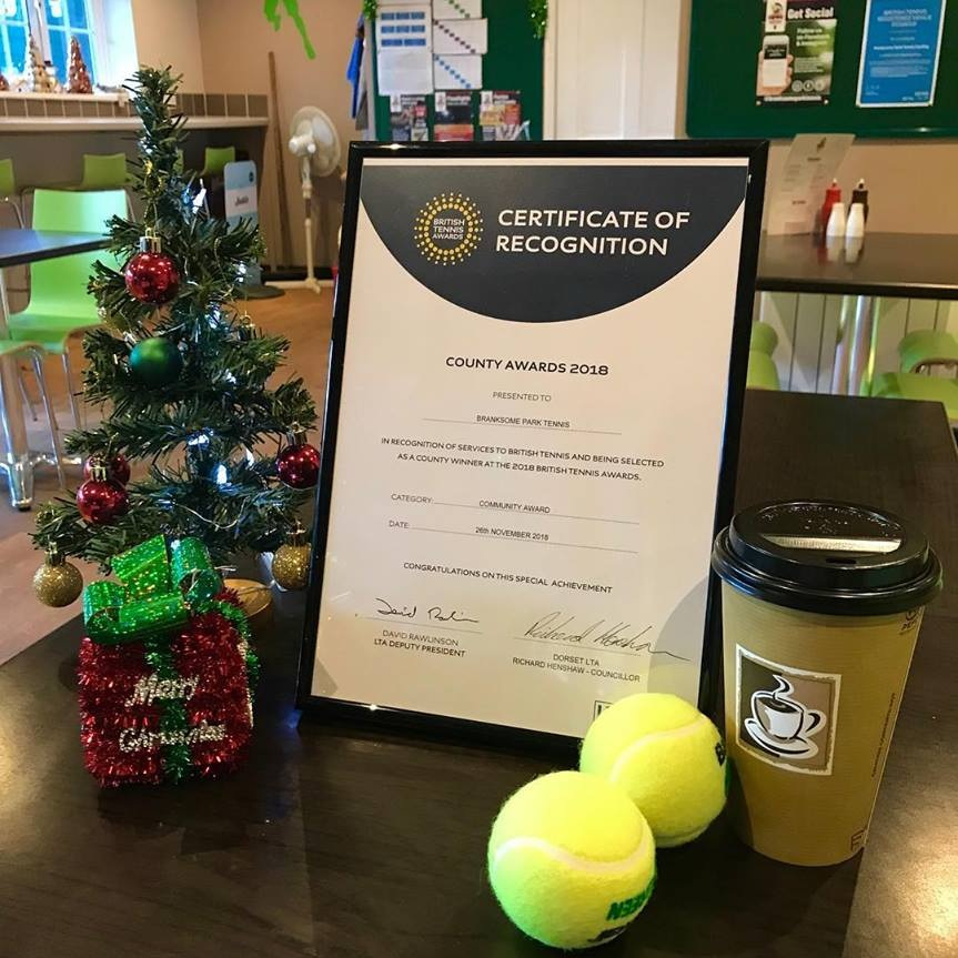 "Winner of BEST Community Tennis Club 2018 - Dorset LTA Awarded Branksome Park Tennis in 2018 the ""Best Community Tennis Club"". We are proud to be recognised as a friendly and welcoming club to all players in our community. Our goal is to make your tennis experience as enjoyable as possible each time you swing by."