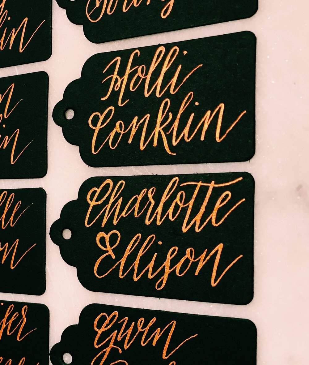 Escort Cards/Name Tags -
