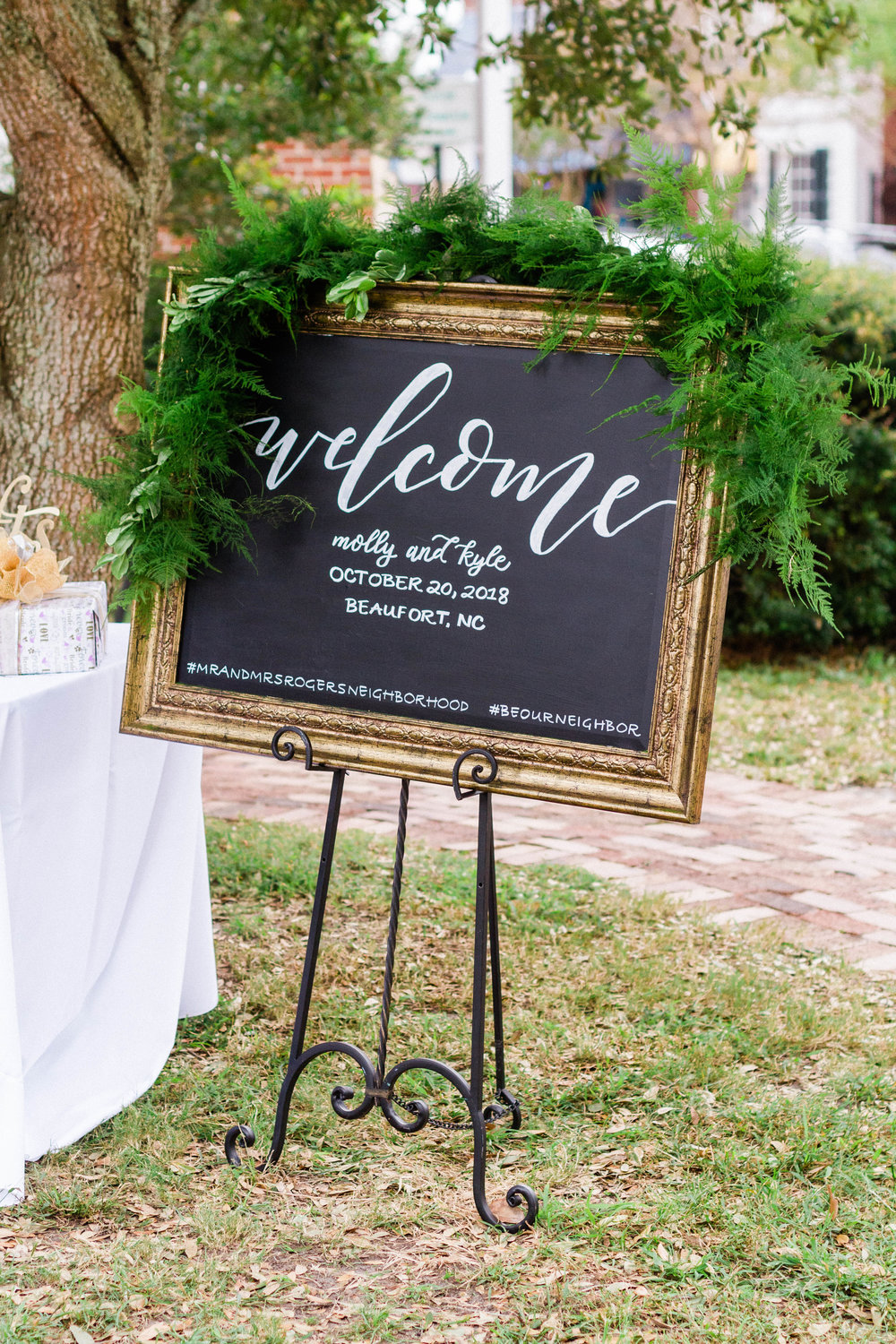 Signage - From welcome signs to seating charts this is where your personality and creativity can really come through in your wedding details. Anything is possible when it comes to signage for your event!