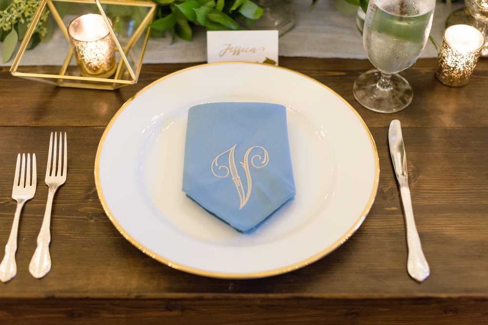 Escort Cards - Assigned seating, meal options, and more can be done on escort cards! They can be customized to fit the theme of your event and can be written on any material! They really up the table display at any party!