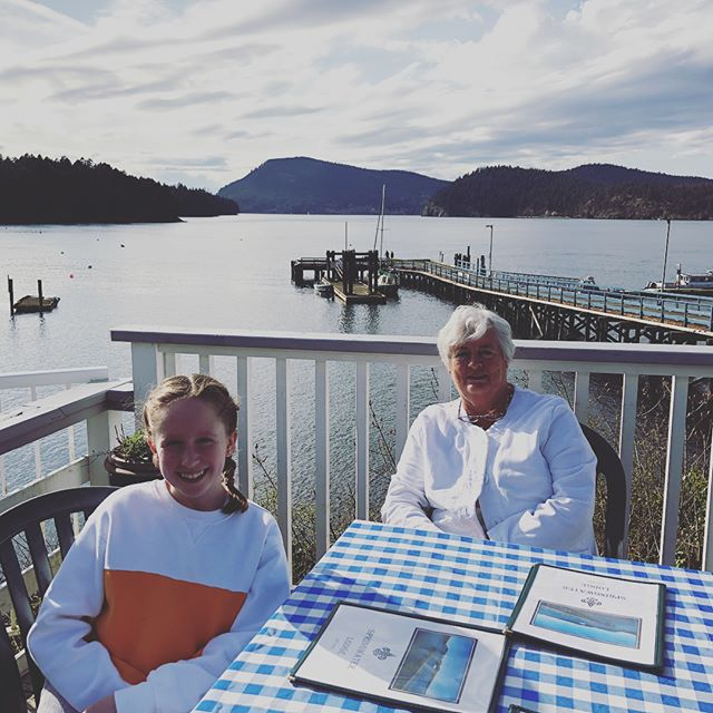 First patio experience of the year!  #mayneisland #springwaterinn #mayneislandbrewingco
