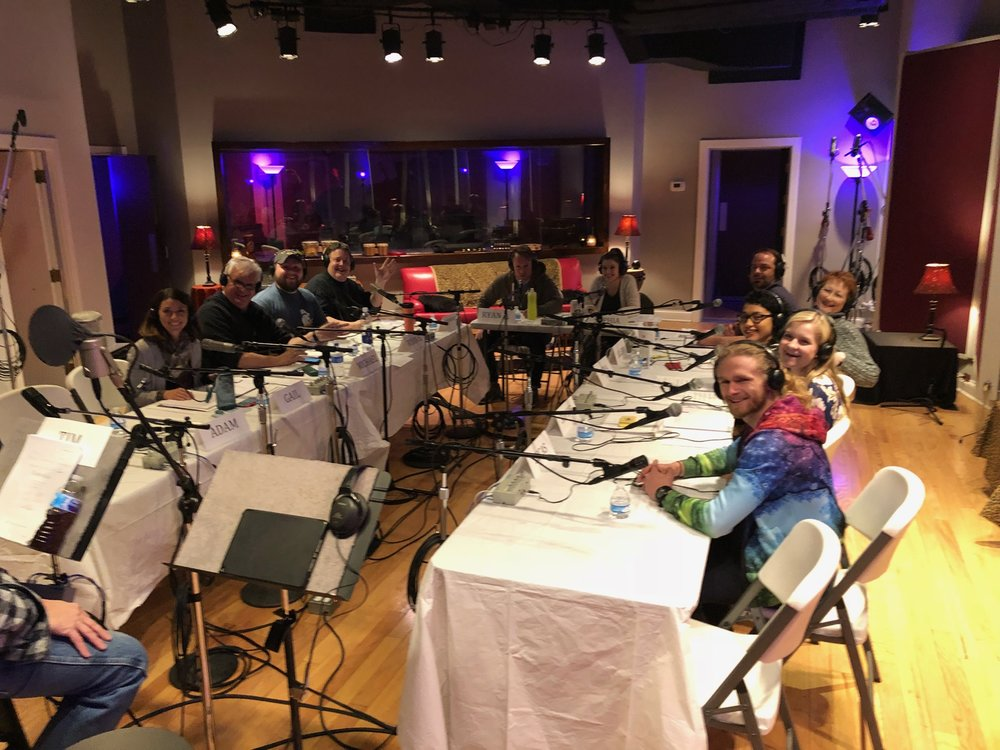 """First table reading of """"Esmeralda"""" at Static Shack Studios, Indianapolis, Indiana, February 4th. What an excellent group of talent."""
