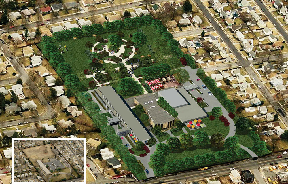 Aerial of Uniondale Site: Inset is of Existing Site