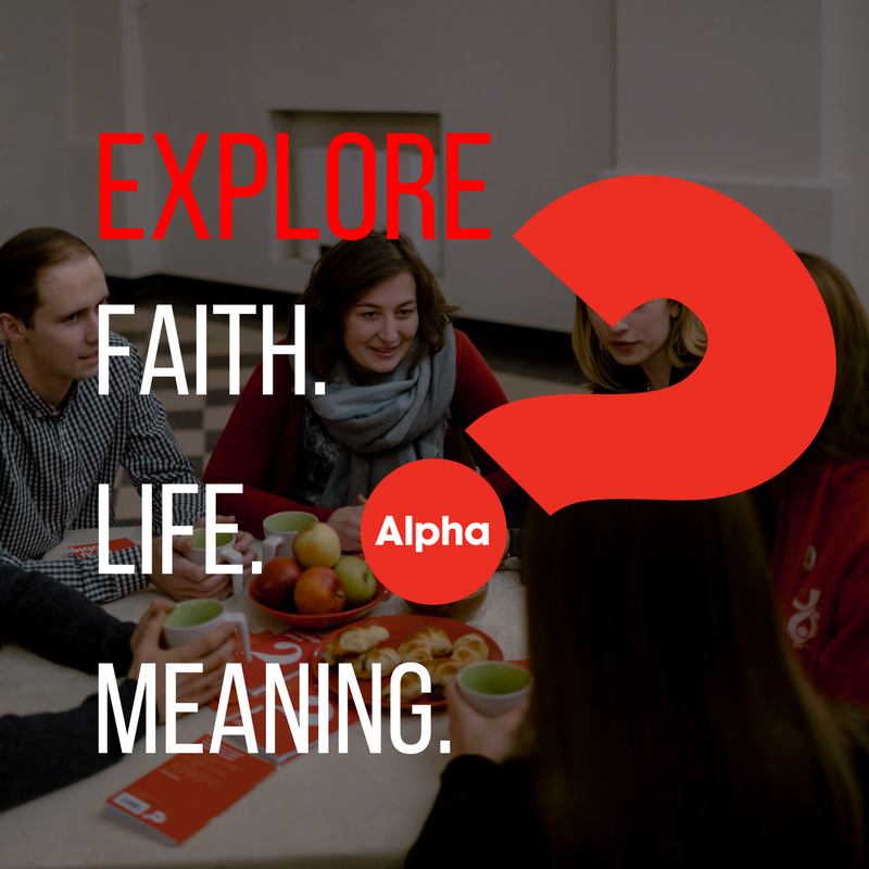 Alpha - Alpha is a series of sessions exploring the basics of the Christian faith. Alpha runs for eleven weeks, each session looks at a different question that people can have about faith and is designed to create conversation. It's just an open, informal and honest space to explore and discuss life's big questions together. Everyone is welcome!Our next Alpha course starts on Oct. 1 at the Brentwood YMCA!Click below to learn more!