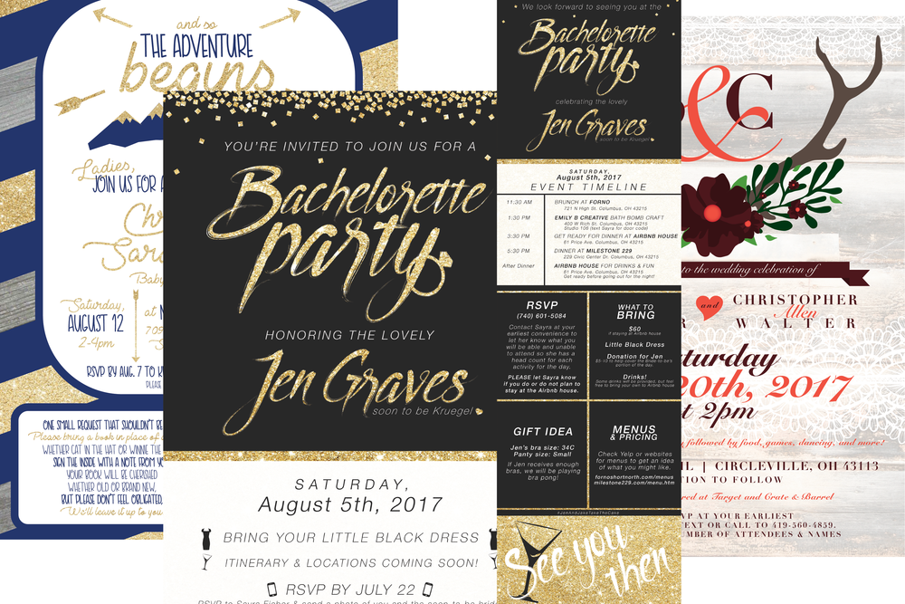 Custom Design Packages - perfect for events and announcements