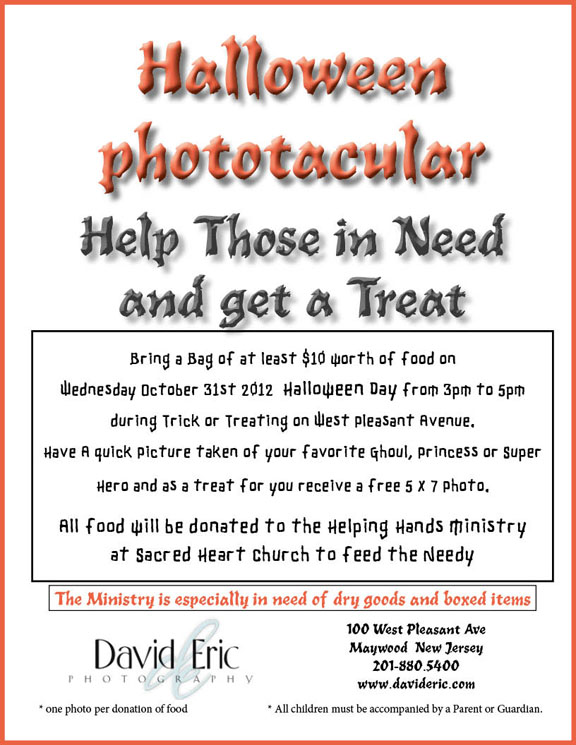 halloween food drive blog