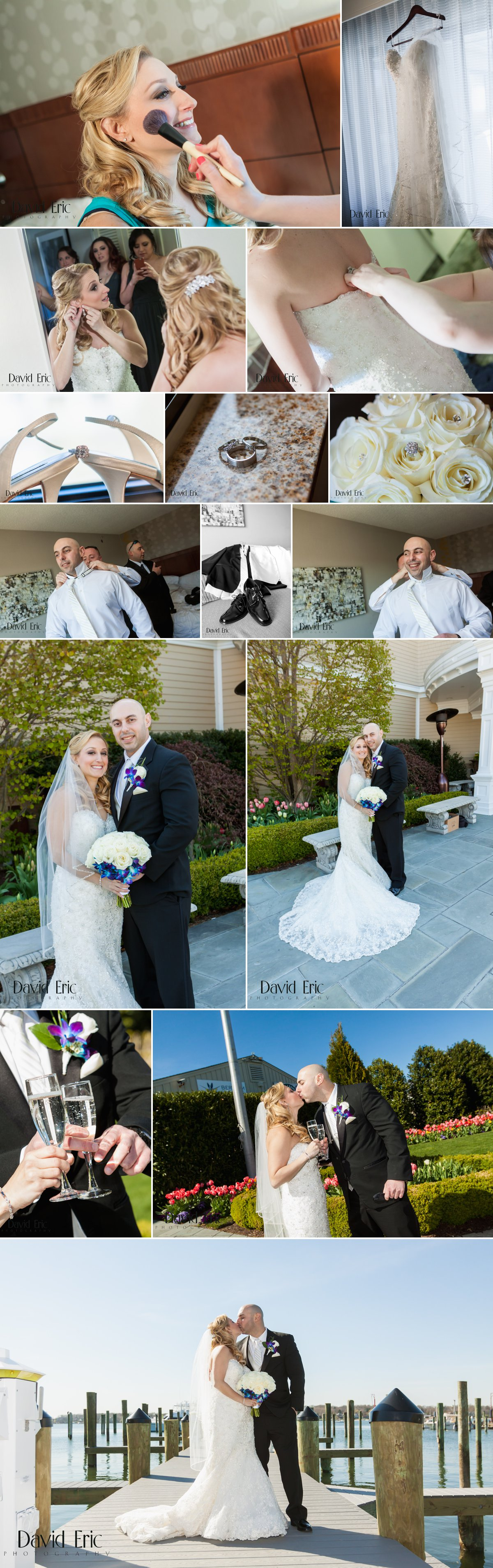 Clarks Landing Yacht Club Point Pleasant New Jersey Pelta Wedding - David Eric Photography 1