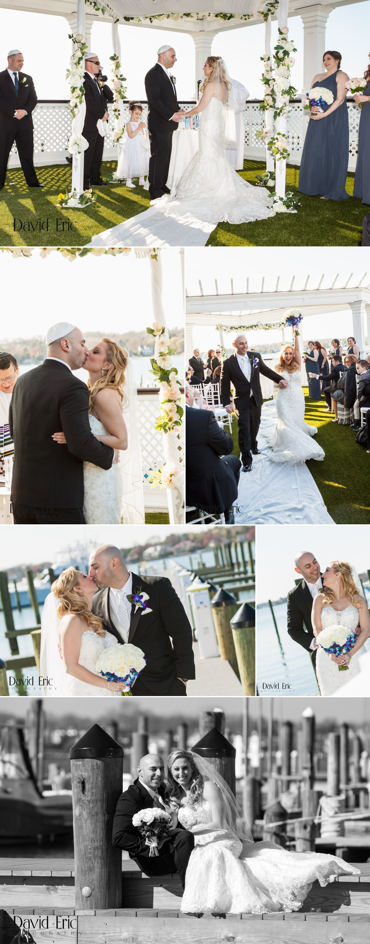 Clarks Landing Yacht Club Point Pleasant New Jersey Pelta Wedding - David Eric Photography 2