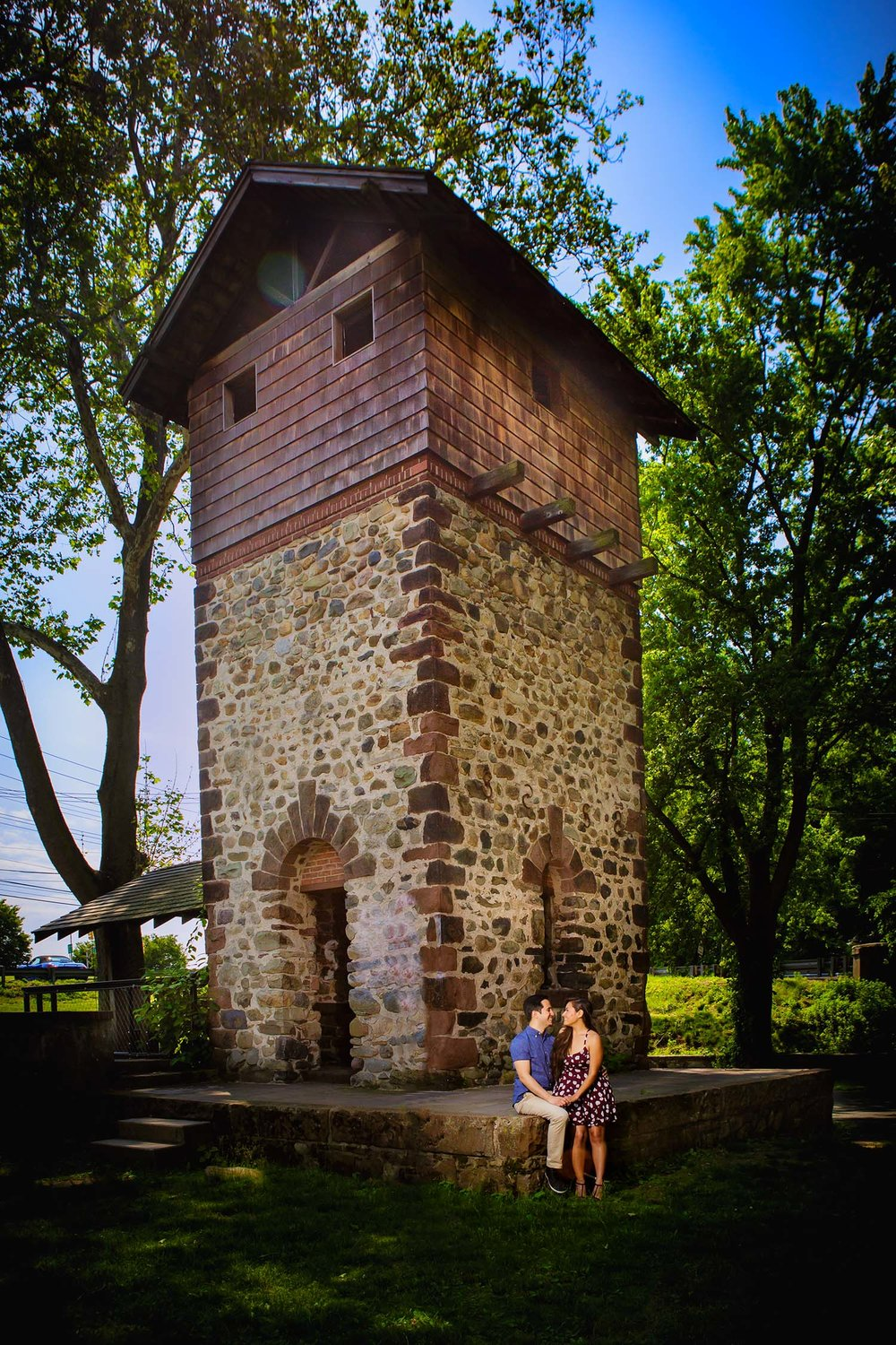 Engagement couple at Eaton Tower in Paramus new Jersey