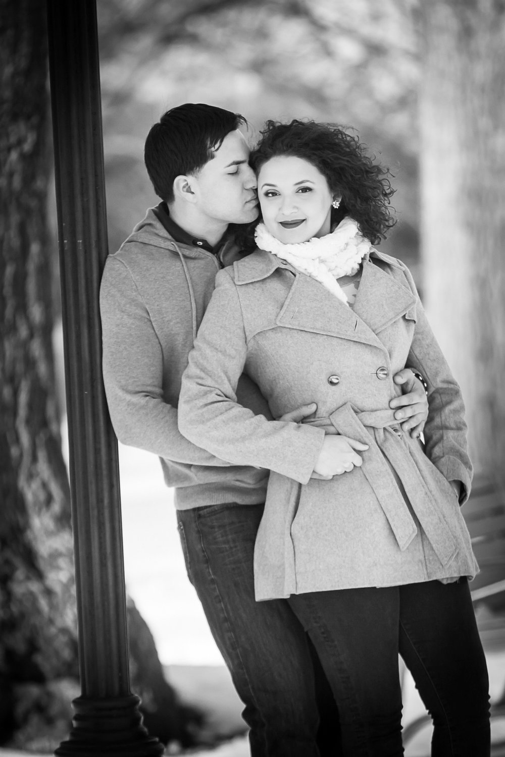 Winter Engagement session at Lambert Castle in Paterson