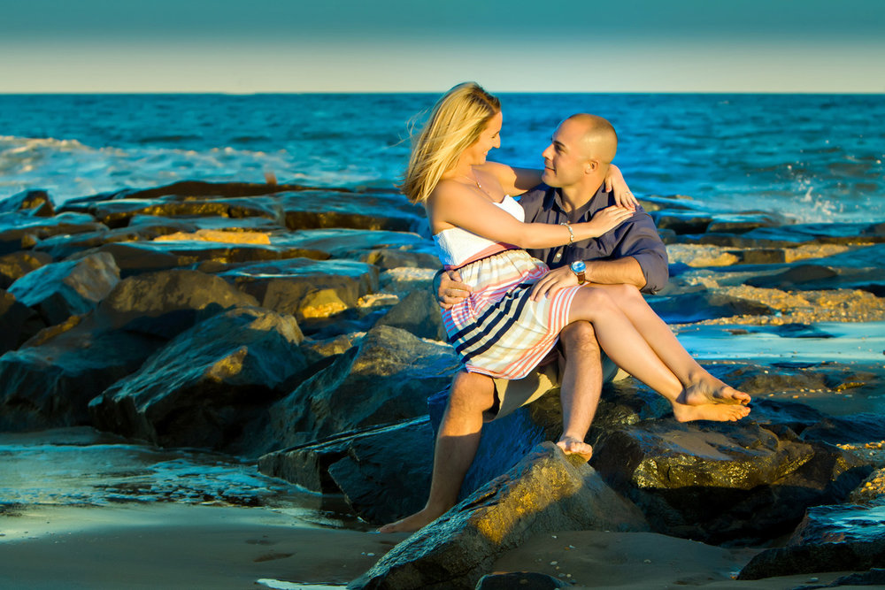 Winter Engagement session on the beach at the Jersey Shore