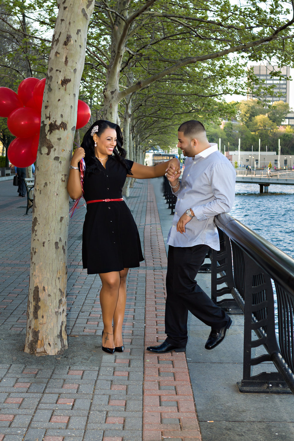 Spring Engagement Session by pier A in Hoboken New Jersey