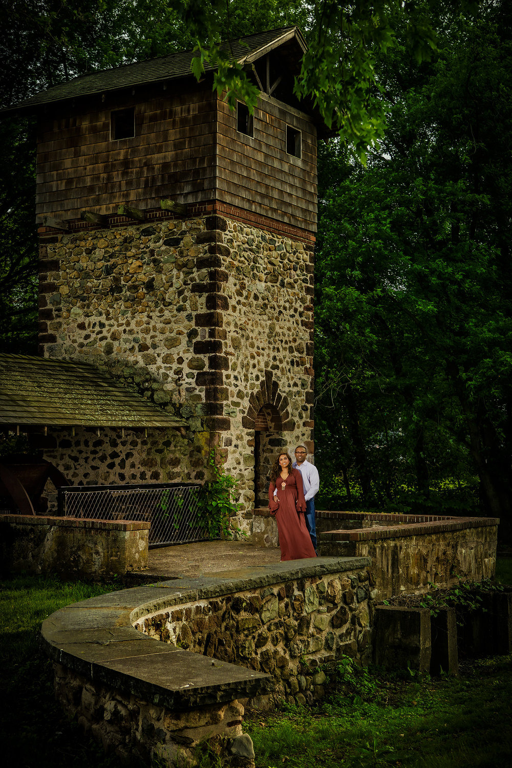 Engagement Session in Paramus New Jersey at the haunted Eaton Tower