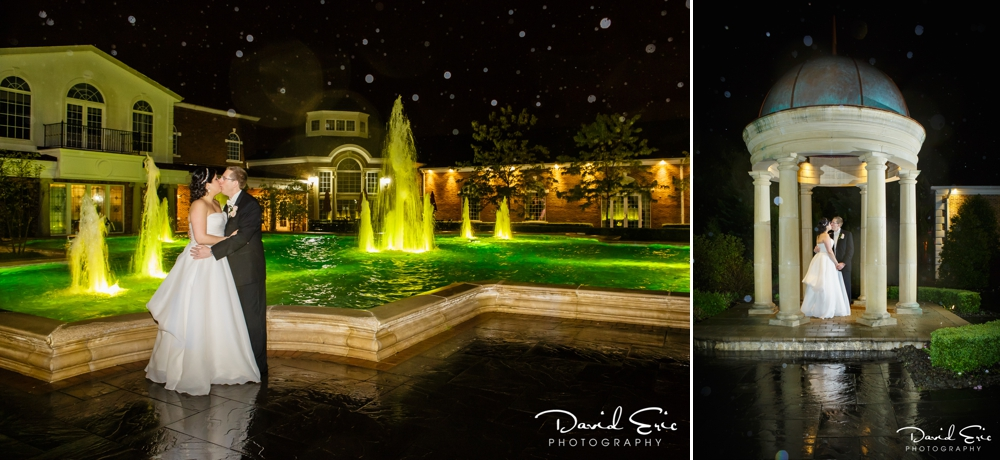 nighttimewedding portraits at the Rockleigh Country Club Rockleigh New Jersey