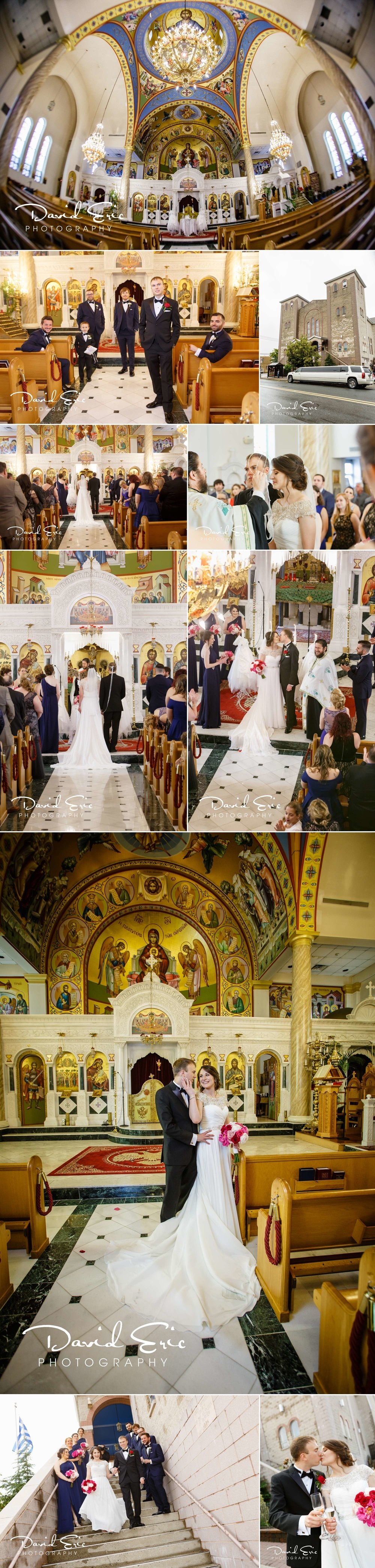 Their wedding took place at Ascension Greek Orthodox Church 101 Anderson Ave, Fairview, NJ 07022