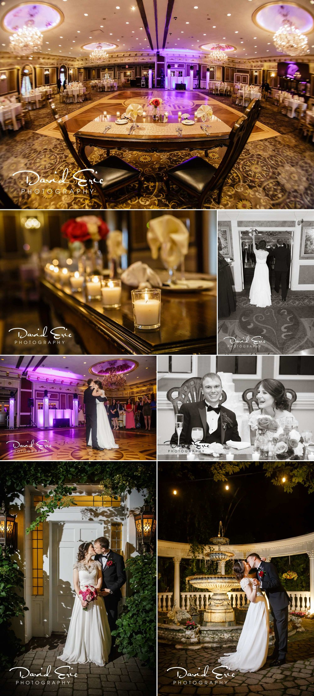 Their reception was held in the Grand Ballroom at the Brownstone in Paterson, NJ