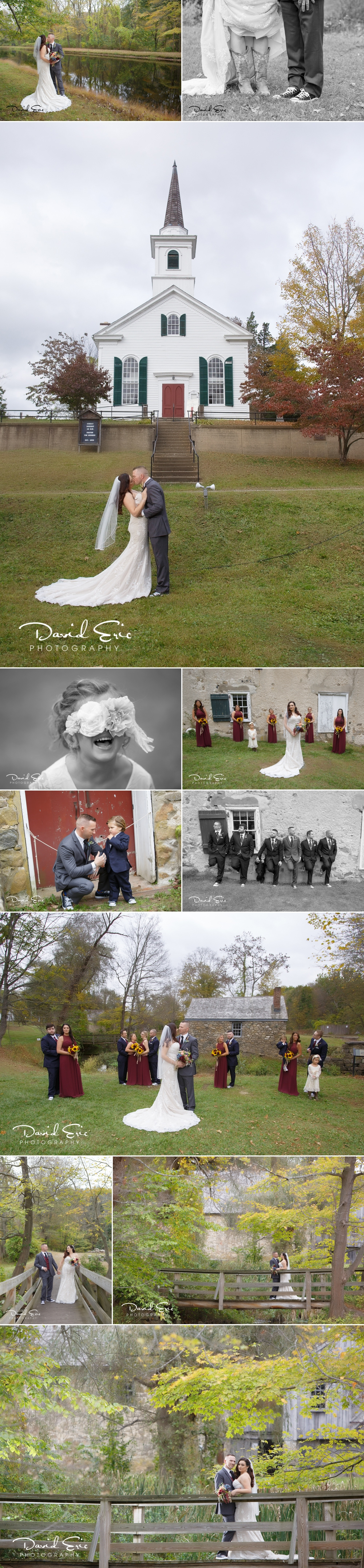 Capturing great shots of the Bride and Groom with their bridal party is a very important part of the day. But even more important of course is getting those incredible shots of just the two. These were taken at Waterloo Village in Stanhope, NJ.