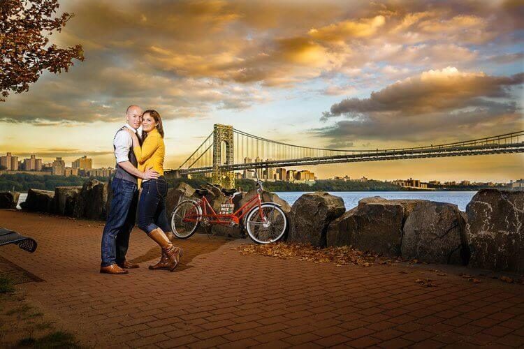 George Washington Bridge Engagement Session