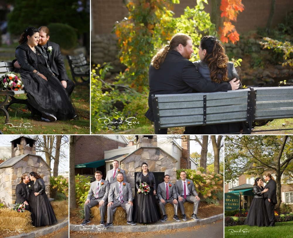 Beautiful images of the bride and groom on their special day at Ho-Ho-Kus Inn and Tavern.
