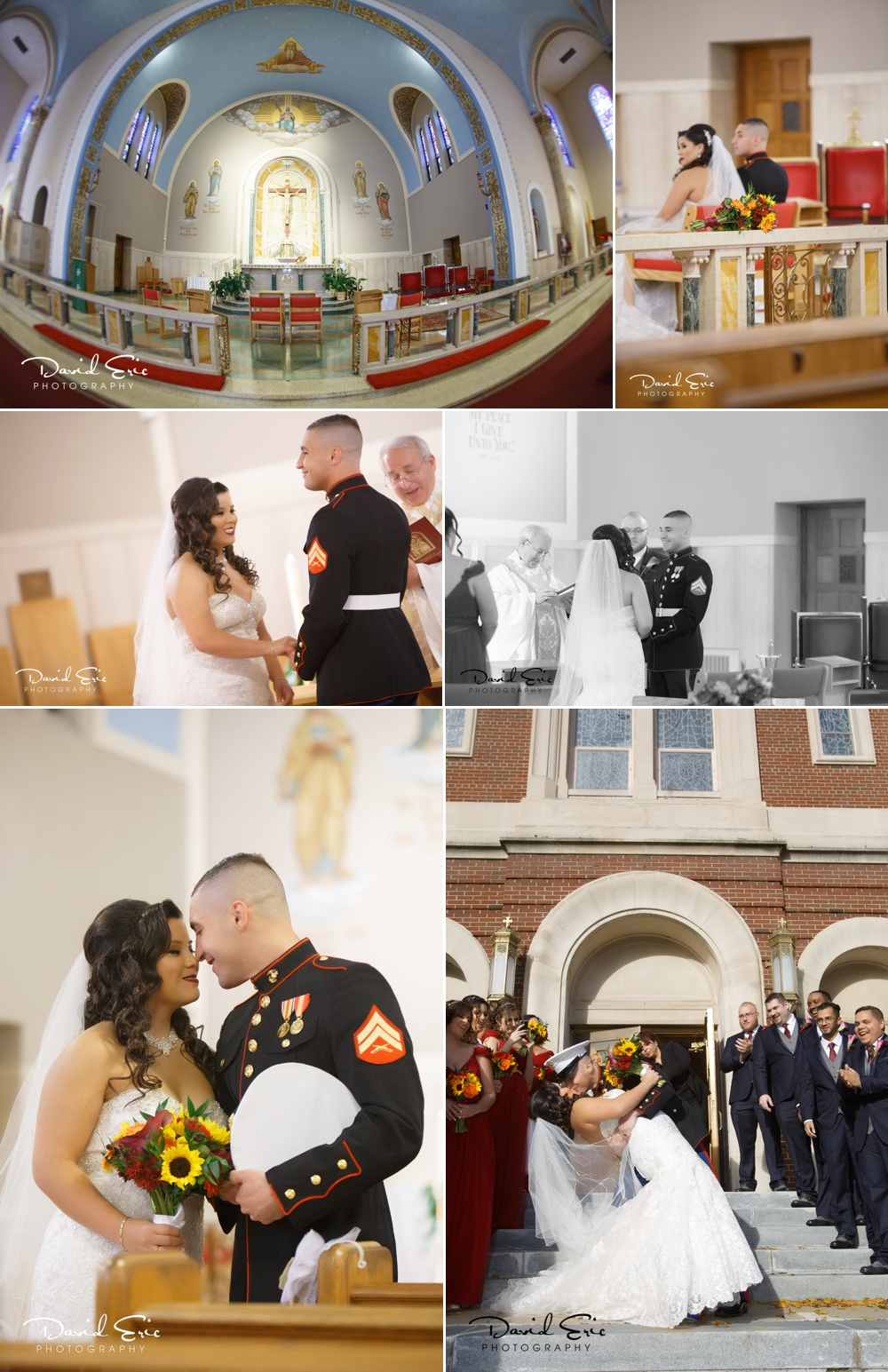 It was such a beautiful wedding at Our Lady of Peace Church in Fords, New Jersey.
