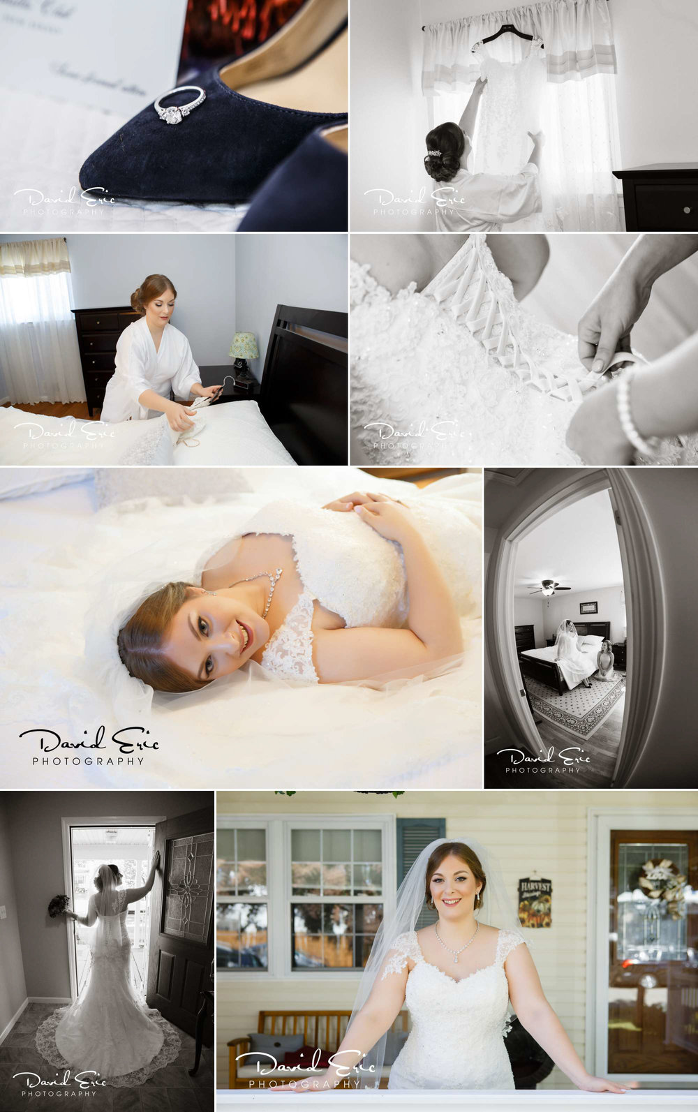 Lake Valhalla Club wedding bride getting ready photos
